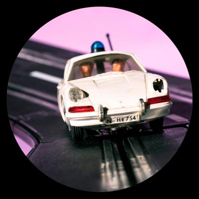 Eva Gieselberg – POPO - Porsche Polizei schwarz