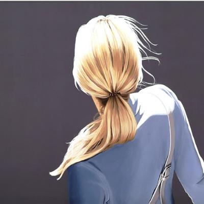 Sabine Liebchen – o.T. blaue jacke start